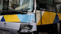 Σύγκρουση αστικού λεωφορείου με πούλμαν στους Θρακομακεδόνες