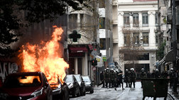 Ενταση στα Εξάρχεια:Κουκουλοφόροι με μολότοφ κατά αστυνομικών