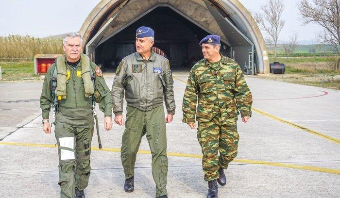 Με F-16 στη Λήμνο ο αρχηγός ΓΕΕΘΑ με τον ίδιο πιλότο