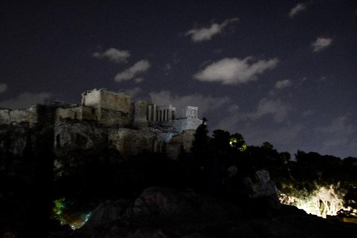 """Στο σκοτάδι η Ακρόπολη για την ¨Ώρα της Γης"""""""