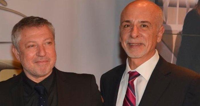 Ο Πολυχρόνης Συγγελίδης (αριστερά) μαζί με τον Γενικό Διευθυντή της Jeep στην Ελλάδα, Ανδρέα Σουλουτζιδάκη