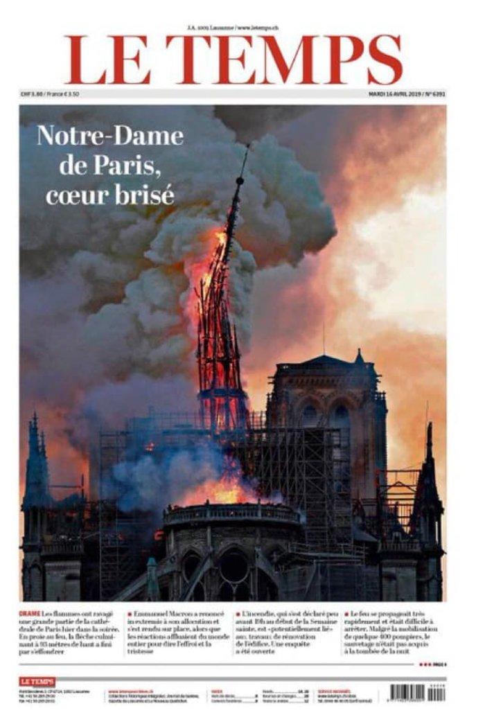 Το συγκλονιστικό πρωτοσέλιδο της Liberation: «Νotre Drame» - εικόνα 4