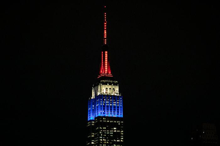 Στα χρώματα της Γαλλίας το Εmpire State Building
