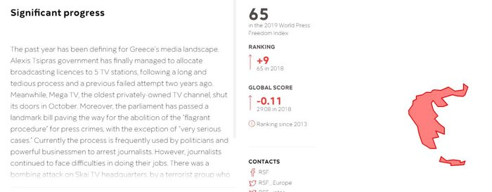 RSF: Ο ορίζοντας σκοτεινιάζει για τους δημοσιογράφους