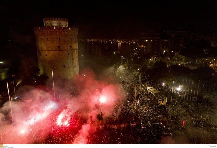 """""""Κάηκε"""" η Θεσσαλονίκη για το πρωτάθλημα του ΠΑΟΚ - εικόνα 2"""