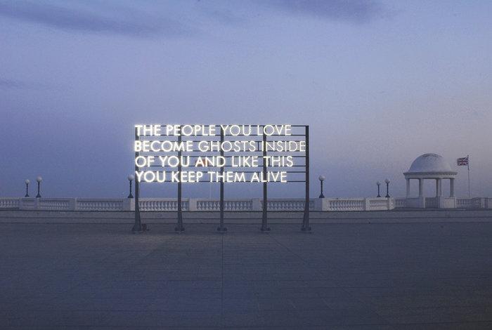 ROBERT MONTGOMERY People You Love. De La Warr Pavilion, 2010