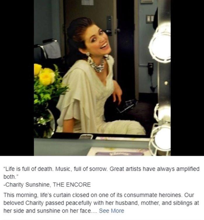 Έφυγε από τη ζωή στα 35 της γνωστή υψίφωνος της όπερας