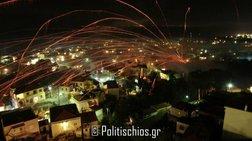 Εντυπωσιακός ρουκετοπόλεμος στον Βροντάδο της Χίου