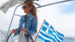 Μαρία Μενούνος: Ηρθε στην Ελλάδα και το διαφημίζει παντού