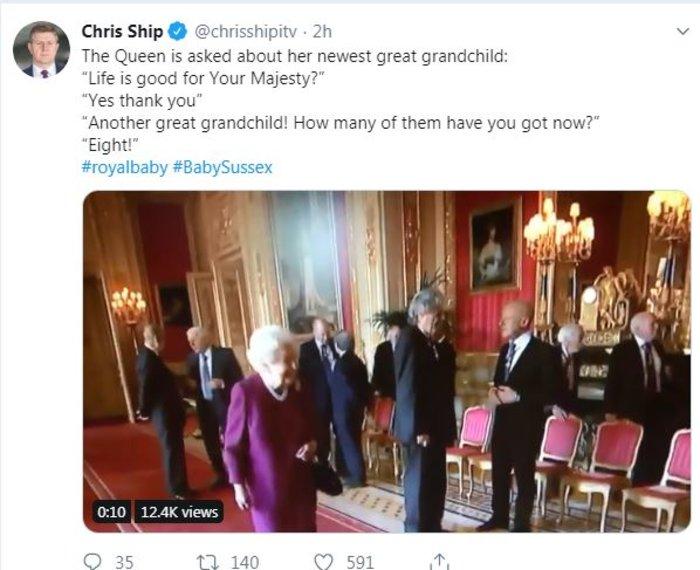 Τι δήλωσε η βασίλισσα Ελισάβετ για το νέο της δισέγγονο