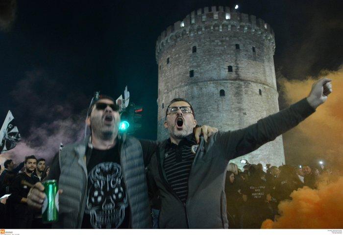 Η νύχτα μέρα στη Θεσσαλονίκη για τον νταμπλούχο ΠΑΟΚ [Εικόνες-Video] - εικόνα 2