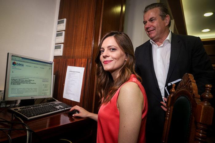 Η Έφη Αχτσιόγλου εγκαινίασε την πλατφόρμα 120 δόσεων για τα ταμεία - εικόνα 2