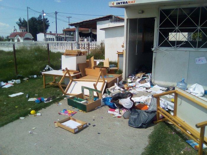 Άγνωστοι κατέστρεψαν νηπιαγωγείο σε οικισμό ρομά στη Θεσσαλονίκη