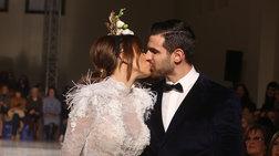 Ελένη Χατζίδου: Παντρεύτηκε με φουσκωμένη κοιλιά και ροζ μίνι φόρεμα [φωτο]