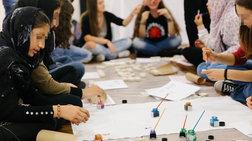 Έκθεση με έργα προσφύγων και Ελλήνων μαθητών στο  Κυκλαδικής