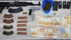 Δύο άτομα στην Πάτρα με βαρύ οπλισμό και ναρκωτικά