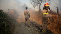 Μαίνεται η πυρκαγιά στην Αχαΐα - Νέα αναζωπύρωση