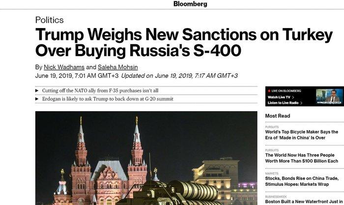 Bloomberg: Τρία πακέτα κυρώσεων κατά της Τουρκίας εξετάζουν οι ΗΠΑ