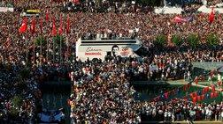 Χιλιάδες κόσμου υποδέχτηκαν τον νέο δήμαρχο Κωνσταντινούπολης
