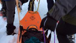 Οι διασώστες έφτασαν την τραυματισμένη ορειβάτη στον Όλυμπο