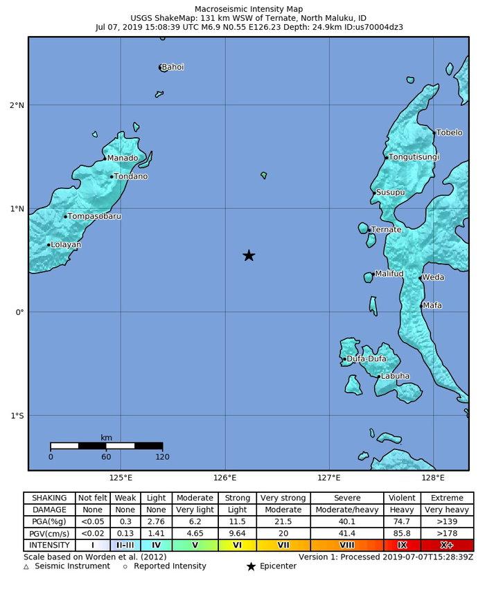 Ισχυρός σεισμός 7,1R στην Ινδονησία-Προειδοποίηση για τσουνάμι