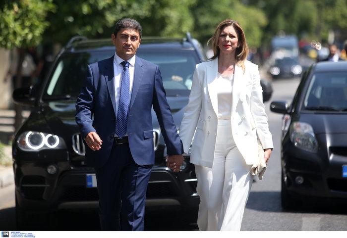 Ο Λευτέρης Αυγενάκης με τη σύζυγό του Λένα Μπανιά