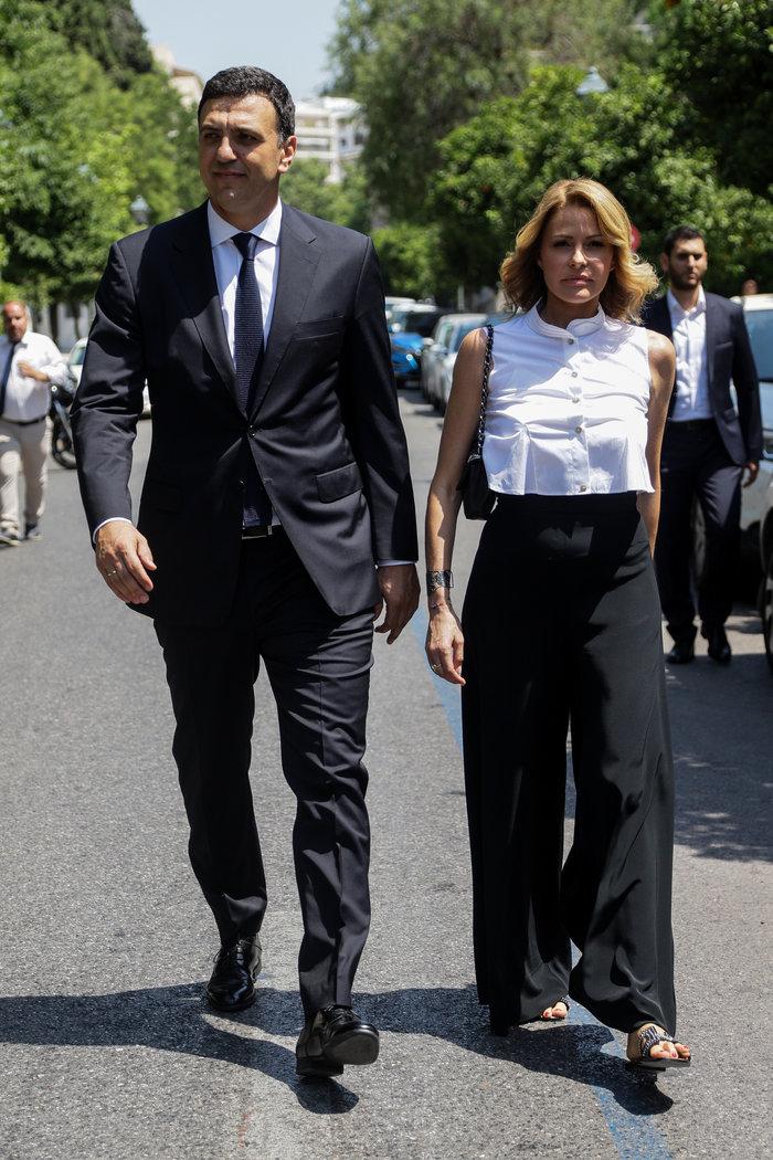 Βασίλης Κικίλιας και Τζένη ΜπαλατσινούEUROKINISSI