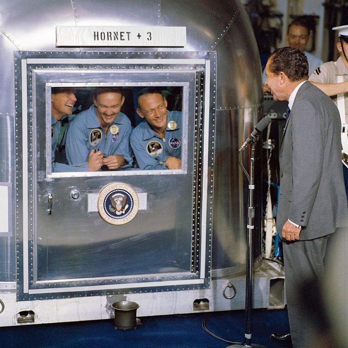 Ο πρόεδρος Ρίτσαρντ Νίξον κι οι αστροναύτες του Apollo II