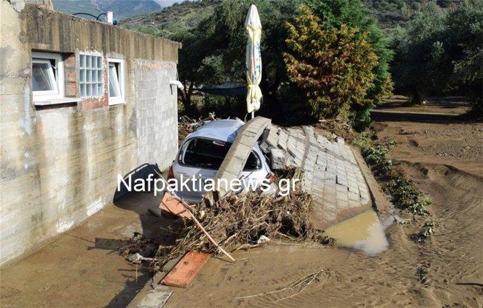 Μεγάλες καταστροφές στη Ναυπακτία από το κύμα κακοκαιρίας - εικόνα 3