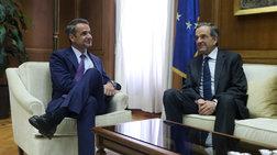Σε εξέλιξη συνάντηση του Κ. Μητσοτάκη με τον Αντ. Σαμαρά στην Βουλή