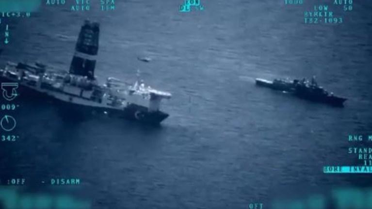 Τουρκικά πολεμικά μαζί με γεωτρύπανα στην Αν. Μεσόγειο