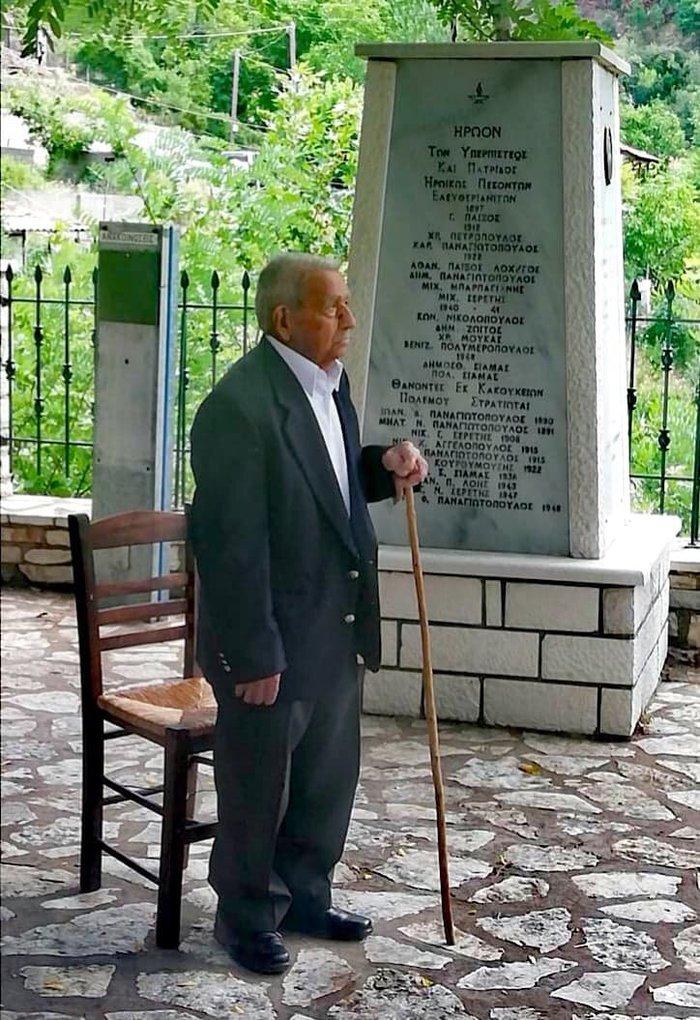 Παρασημοφορήθηκε Εύζωνας πολεμιστής του '40 σε ηλικία 104 ετών
