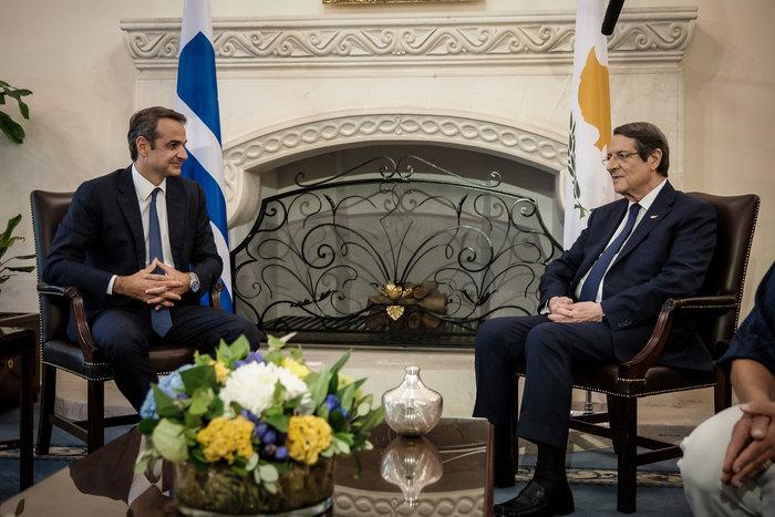 Μητσοτάκης στην Κύπρο: Προτεραιότητα ο τερματισμός της τουρκικής κατοχής