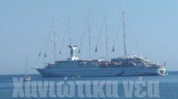 Στα Χανιά έφτασε το μεγαλύτερο ιστιοφόρο κρουαζιερόπλοιο