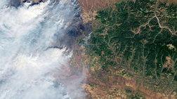 Roskosmos: Οι φωτιές στη Σιβηρία από το Διάστημα