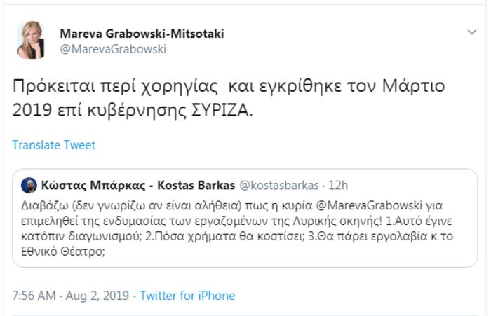 Αιχμηρή απάντηση Μαρέβας Γκραμπόφσκι σε βουλευτή του ΣΥΡΙΖΑ