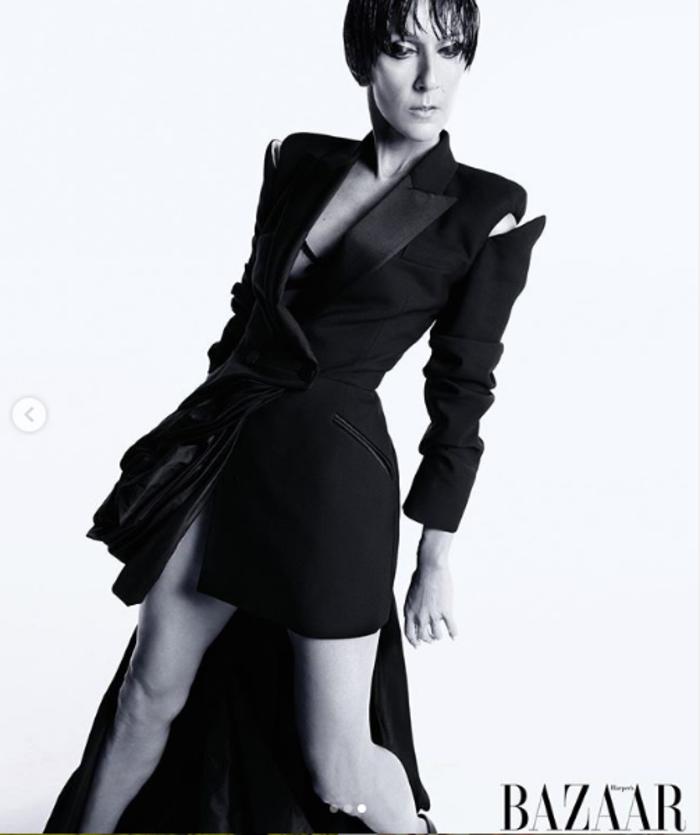 Η φωτογράφηση της Σελίν Ντιόν: το style icon με μελαχρινή περούκα