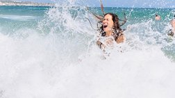 Νεόνυμφη και ευτυχής η Βάσω Λασκαράκη σε διακοπές