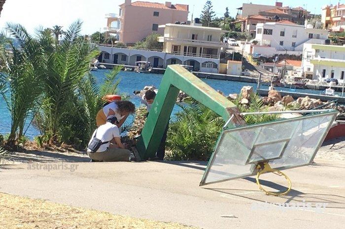 Απομακρύνθηκαν οι μπασκέτες από το γηπεδάκι της Δασκαλόπετρας (φωτό) - εικόνα 3