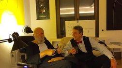 Ο Νίκος Σταθούλης αποχαιρετά τον γλύπτη Takis