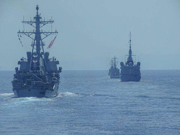 Κοινά ναυτικά γυμνάσια Ελλάδας-Ισραήλ-ΗΠΑ-Γαλλίας στη ΝΑ Μεσόγειο - ΦΩΤΟ - εικόνα 2