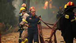 Δ.Αθηναίων: 2.500 μπουκάλια νερού και χυμούς στους πυροσβέστες στην Εύβοια
