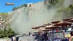 Κατολίσθηση στην παραλία της Αρβανιτιάς στο Ναύπλιο (βίντεο)