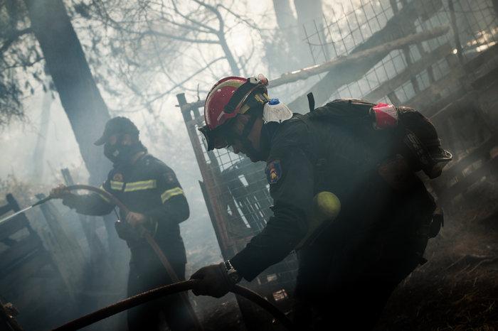 Τρίτη ημέρα μάχη με τις φλόγες στην Εύβοια, σε χαράδρα η φωτιά - εικόνα 2