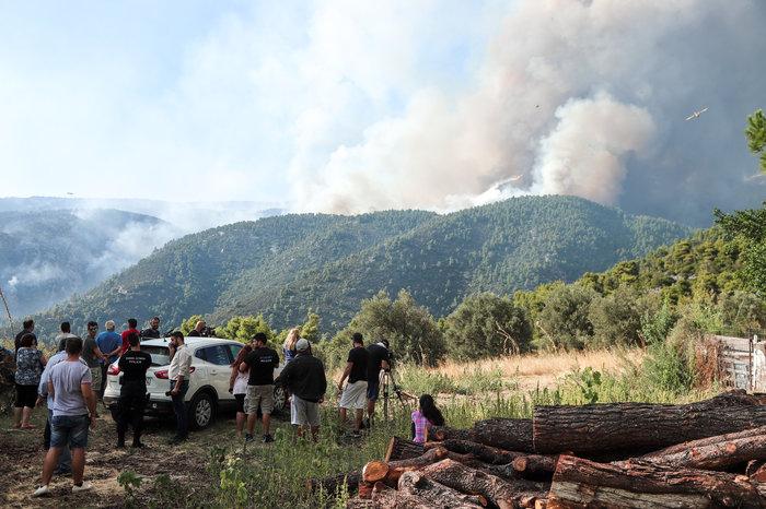 Τρίτη ημέρα μάχη με τις φλόγες στην Εύβοια, σε χαράδρα η φωτιά - εικόνα 6
