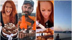 Σίσσυ Χρηστίδου: Το beach party & η απίθανη τούρτα που φτιάχτηκε επί τόπου