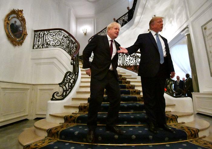G7: O Tραμπ υπόσχεται στον Τζόνσον μεγάλη εμπορική συμφωνία