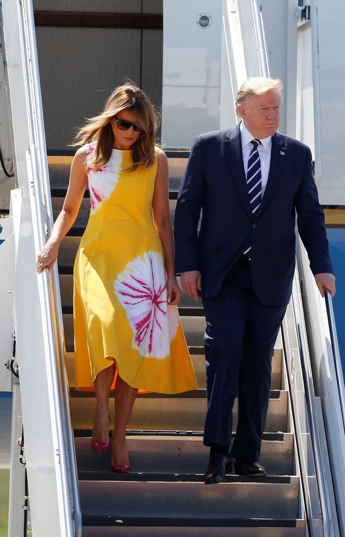 Μελάνια Τραμπ: Με αρχαιοελληνικό φόρεμα στη Σύνοδο της G7