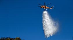 Υπό μερικό έλεγχο η φωτιά στην εθνική στο ύψος της Λυκόβρυσης