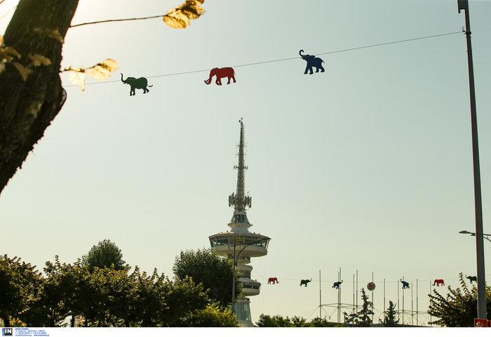 Εκατοντάδες ελεφαντάκια στον ουρανό της Θεσσαλονίκης